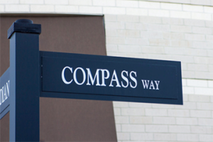 compass way street sign